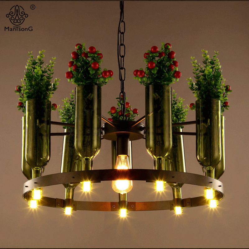 Plants Pendant Hanging Lighting Creative Iron Plastic Lamps AC Industrial Loft For Home Bar Cafe Office Indoor Lights Decoration modern hanging garden of plants lamp nordic creative chandelier lighting without plants and flowers nature home decoration