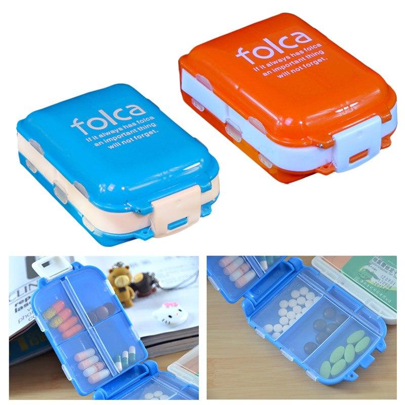 Folding Medicine Vitamin Drug Pills Box Makeup Storage Case Container Box Supplies @LS
