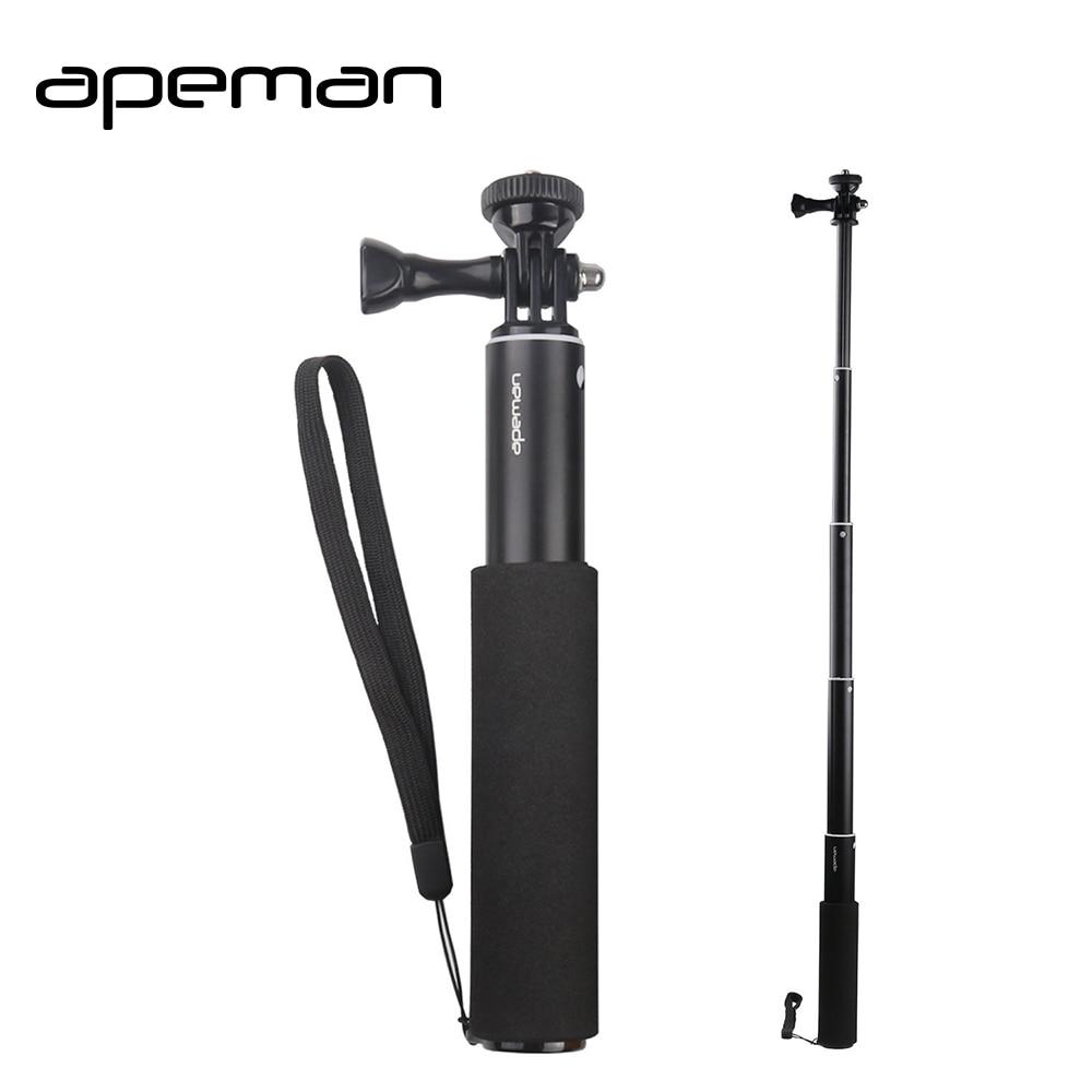 Apeman Selfie Vara Handheld Monopé Tripé Suporte para Câmera de Ação À Prova D' Água gopro hero 5 4 3 sjcam 4000 xiaomi yi 4 K eken H9