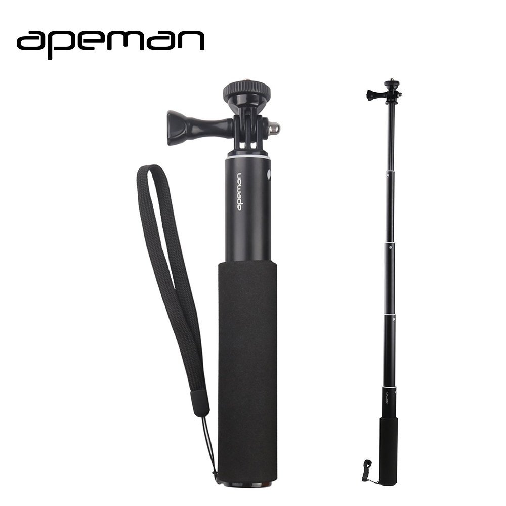 apeman Selfie Stick Waterproof Monopod Tripod Handheld Stand for Action Camera gopro hero 5 4 3  sjcam 4000 xiaomi yi 4K eken H9 sc1 carbon fiber smartphone tripod handheld mini phone action camera gopro selfie stick wireless bluetooth remote shutter