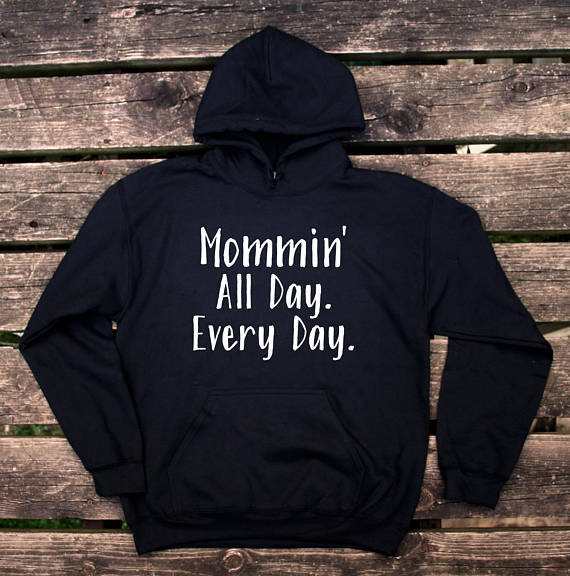 e80966f34 Fly As A Mother Hoodie Funny Trendy Mom Mommy Wife Gift Sweatshirt long  sleeve casual tops Mom Fashion Hoodie drop ship