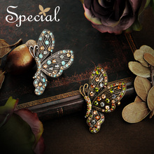 Special Fashion Multi Color Butterfly Brooch Pins European Style Vintage for Dresses Gifts Women S1721B