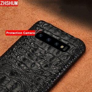 Image 4 - Luxury Genuine Crocodile Leather Case For Samsung S10 Plus S10 Lite E Note 10 Pro Case Handmade Skin Back Cover for Galaxy Note 9 10 8 S9 S8 Plus + fundas S10e s10Lite S10+ shell couqe