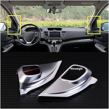Diseño de coche 2 uds ABS cromado frente A Pilar puerta estéreo altavoz decoración molduras de Marcos cubierta para Honda CRV CR-V 2012-2015 2016