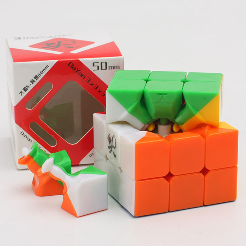 8 style dayan zhanchi 3x3x3 50mm Cube Puzzle Toy High-quality Magic Cube Ultra-Smooth Profissional Cubo Magico Classic Toys