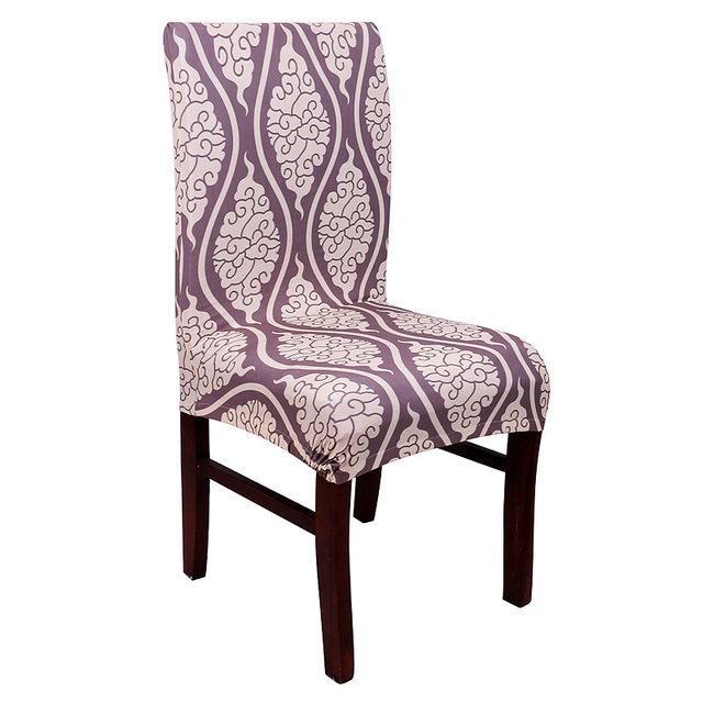Anti Dirty Geometric Spandex Elastic Polyester Office Chair Cover Washable Cartoon Seat Dining Room