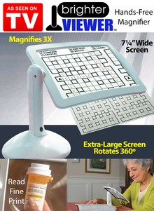 Dexlue Brighter Viewer Enlarge Up To 3X Hands-Free LED Magnifier Extra Large Screen Free Standing 180 Degrees Rotation