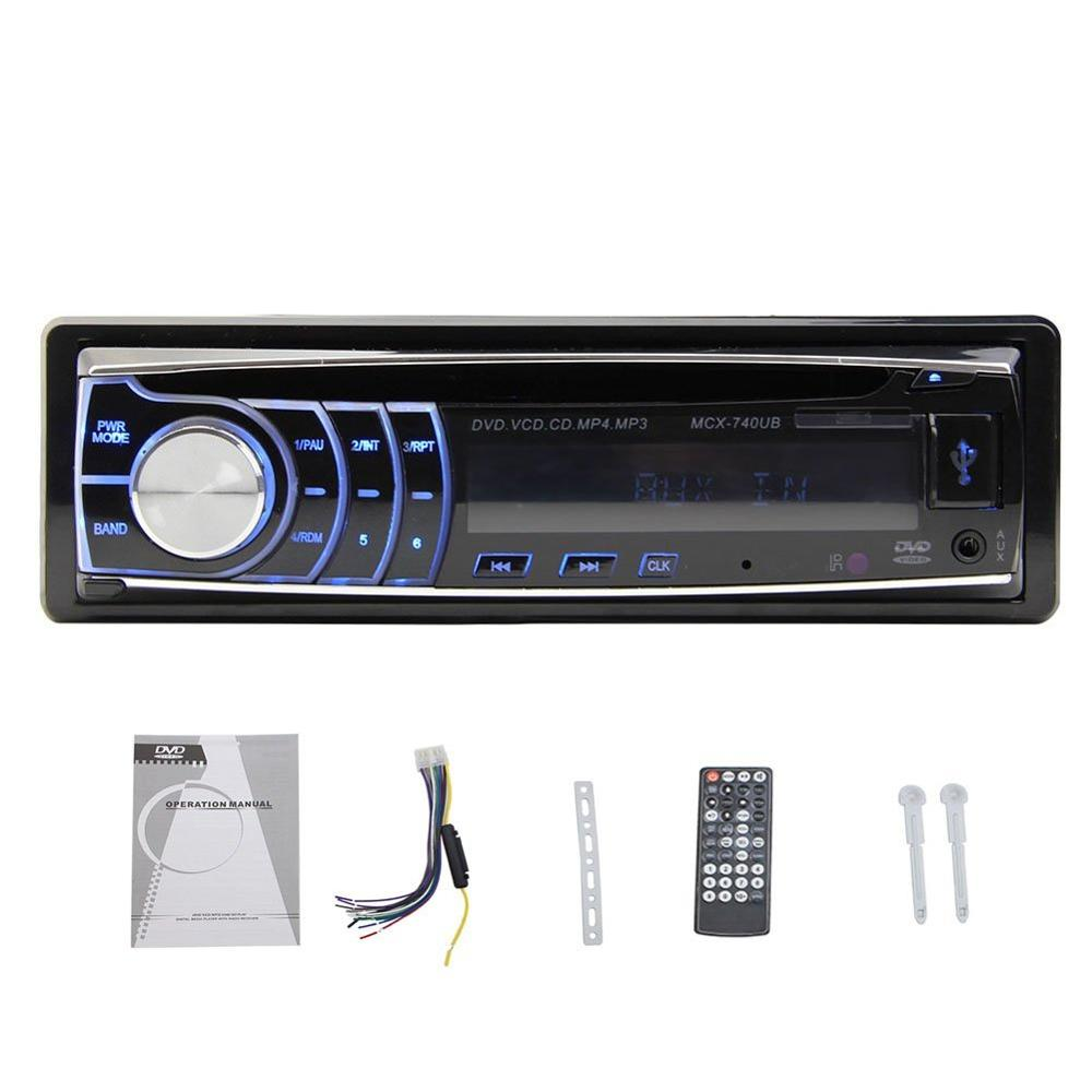 Car DVD CD Player In Dash Headunit USB/SD/AM/FM/AUX/mp3/vcd with Remote control car Stereo Radio 1 Din Car Audio DVD Automotive car usb sd aux adapter digital music changer mp3 converter for skoda octavia 2007 2011 fits select oem radios
