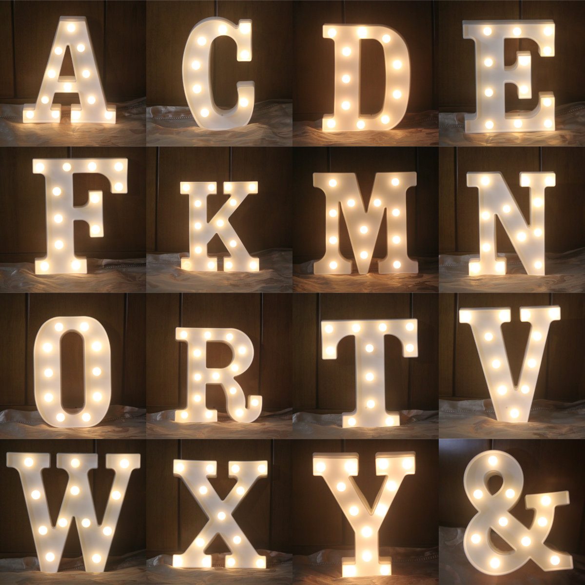 3D 26 Letters LED Night Light Warm White Wall Hanging Neon Christmas Fairy Lights Ourdoor Party Birthday Decoration Desk Lamp ropio love letters shape led night lights table lamp wall hanging neon light for festival wedding party decoration lighting