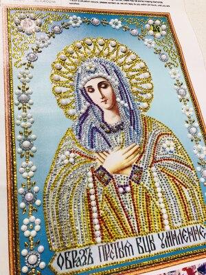 8003 300 5D DIY Diamond Embroidery Beadwork Icons Religion Diamond Painting 3D Crystal glass Drill Diamond Mosaic Religious Pearls pattern rhinestone Bead Orthodox home decor  (1)