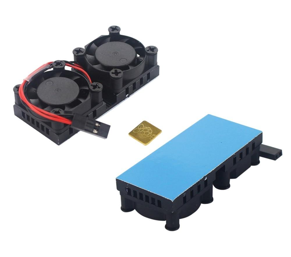 New Dual Fan/Fan With Heat Sink Two Optional Double Cooling Fan For Raspberry Pi 3 Model B+ / 3 Model B