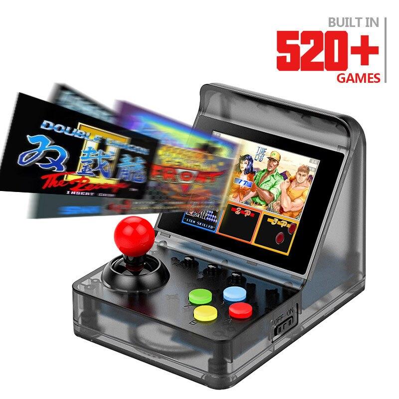 HOMEREALLY 32 bits rétro ARCADE Mini Console de jeu vidéo 3.0 pouces construit en 520 jeux Console de jeu portable famille enfant cadeau jouet
