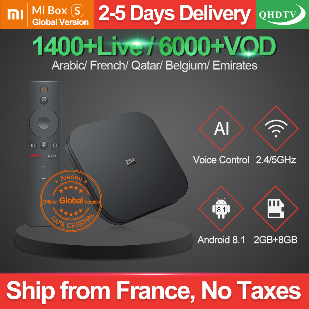 1 Year Netherlands IPTV France Xiaomi MI Box S 4K Android 8 1 2G 8G Google
