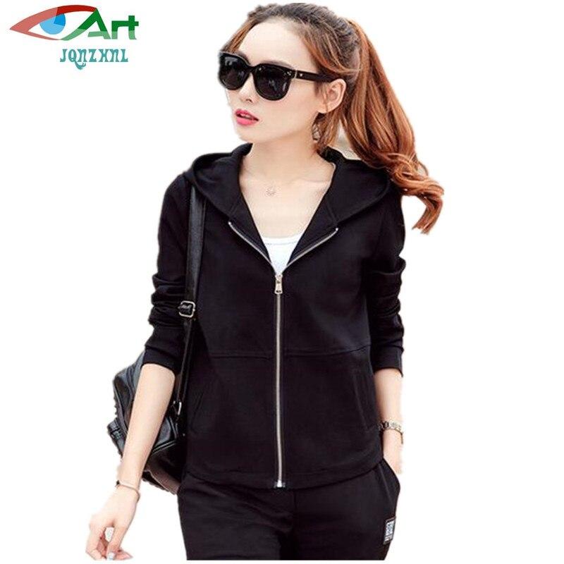 JQNZHNL 2017 New Spring Women Coat Short paragraph Fashion Baseball clothing Jacket Hooded Leisure Large size Women Jacket AS186