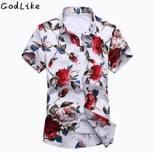662d0125978 GODLIKE Short Sleeve Shirt Summer Casual Mens Social
