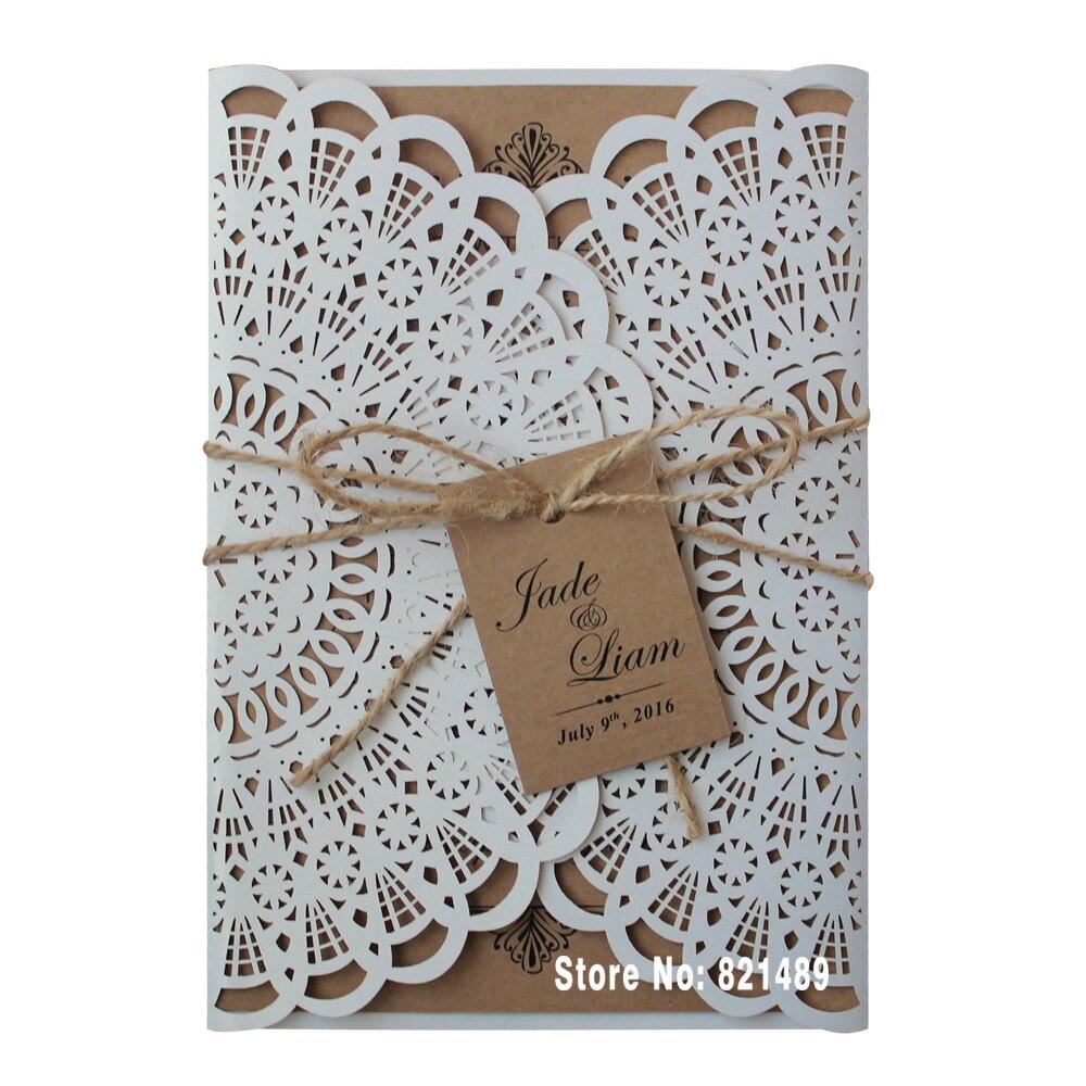 Rustikalni pozivnice za vjenčanje, svadbene Showe pozivnice, Custom - Za blagdane i zabave - Foto 2