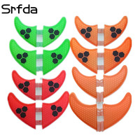 srfda 4pcs/set High quality surfboard fins with fiberglass honey comb material for surfing fin GX G3 G5 G7 S L size quad fins