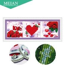 Meian, Speziell Geformten, Diamant Stickerei, Liebe, Ross, 5D, Diamant Malerei Kreuzstich, 3D, Diamant Mosaik, Dekoration, Weihnachten
