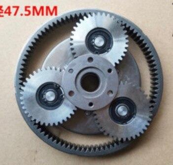 1 комплект, 36 зубьев, стальной диаметр шестерни: 47,5 мм, толщина: 13,5 мм, электродвигатель для электромобиля, стальная шестерня + зубчатое кольцо + сцепление Передачи      АлиЭкспресс