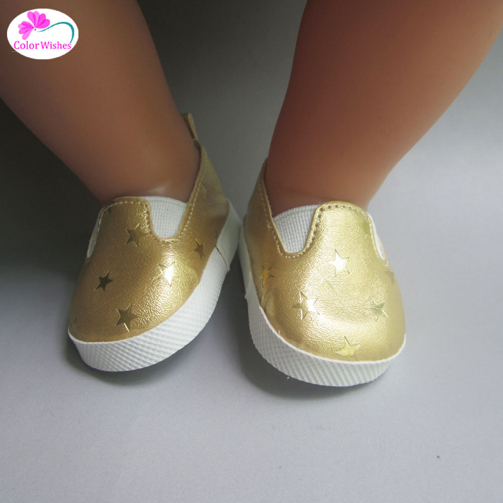 Fashion-white-sports-boots-shoes-for-dolls-fits-43-cm-Zapf-dolls-baby-born-and-18-2