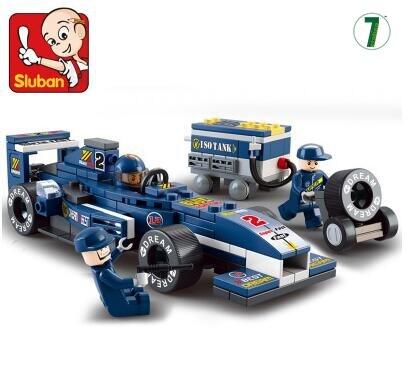 Hot sale M38-B0351 Toy building blocks F1 <font><b>Blu-ray</b></font> car Formula <font><b>One</b></font> racing car model 1:32 sluban 0351 bricks boy gift city