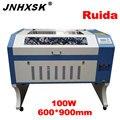Лазер 100 Вт лазерная гравировка 6090/9060 Ruida 6442S 110/220 В Co2 лазерный гравер машина лазерный резак для фанеры машина