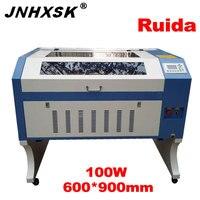 Laser 100 w gravação a laser 6090/9060 ruida 6442 s 110/220 v co2 gravador a laser máquina de corte a laser de madeira compensada