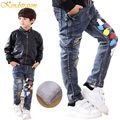 Kindstraum Winter Children Fashion Jeans 4 Styles Boys Cotton Denim Trousers Child Thick Fleece Thermal Warm Pants, MC239