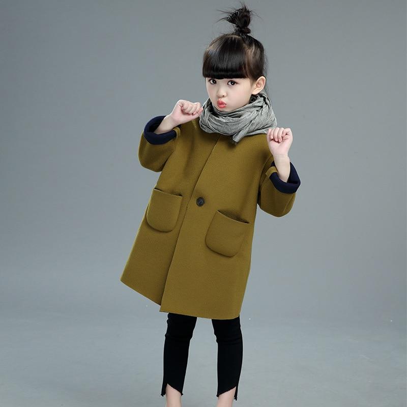 Aliexpress.com : Buy Wool Coats For Kids Girls Wool Dress Coat ...