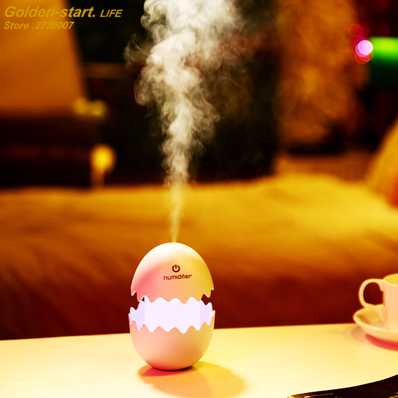 Small Egg Ultrasonic Air Humidifier Household Air Humidifier Office Essential Aroma Oil Diffuser USB Mini Humidifier