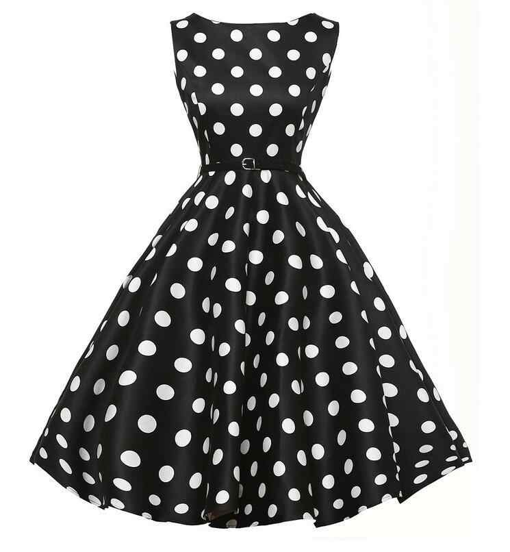 671f78343 ... 2017 Women Dress Vestidos Retro 1950s 60s Vintage Dress Polka Dots  Pinup Rockabilly Big Size Sexy ...