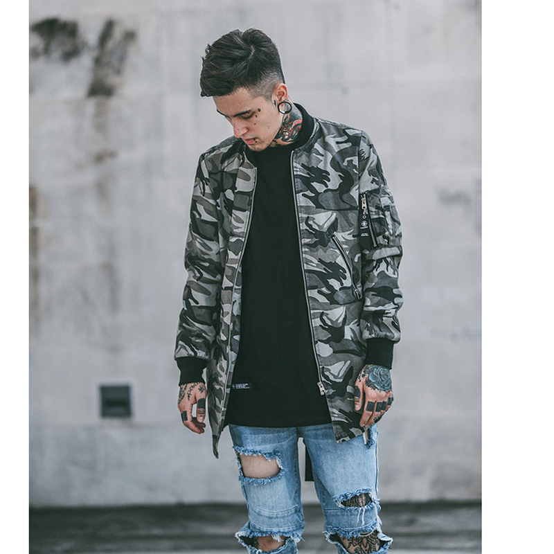 men 39 s camouflage hip hop jacket. Black Bedroom Furniture Sets. Home Design Ideas