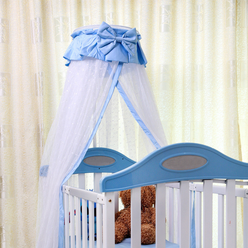 2017 New Arrival Luxury Baby Floor Lift Palace Mosquito Nets With Stents Hung Dome Mosquito Net Clip type Crib Mosquito Netting