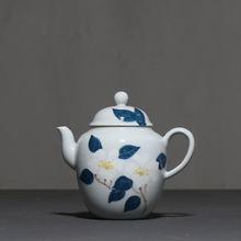 PINNY 170ML Hand Painted Camellia Teapot Porcelain Made Kung Fu Tea Pots ceremony Essential Ceramic maker
