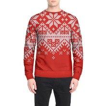 2018 Autumn Winter Christmas Hoodies Printed Long Sleeve Sweatshirt Pullover Tops Hoodie Hip Hop Streetwear Outfit Men Clothing