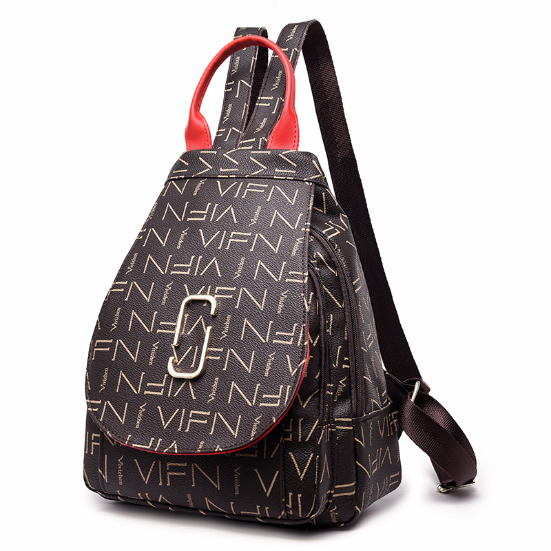 Fashion Trend Women Backpack Female Leather PU Backpack Women Shoulders Bag Casual Daypack Bags Elegant Female Backpack SAC 2