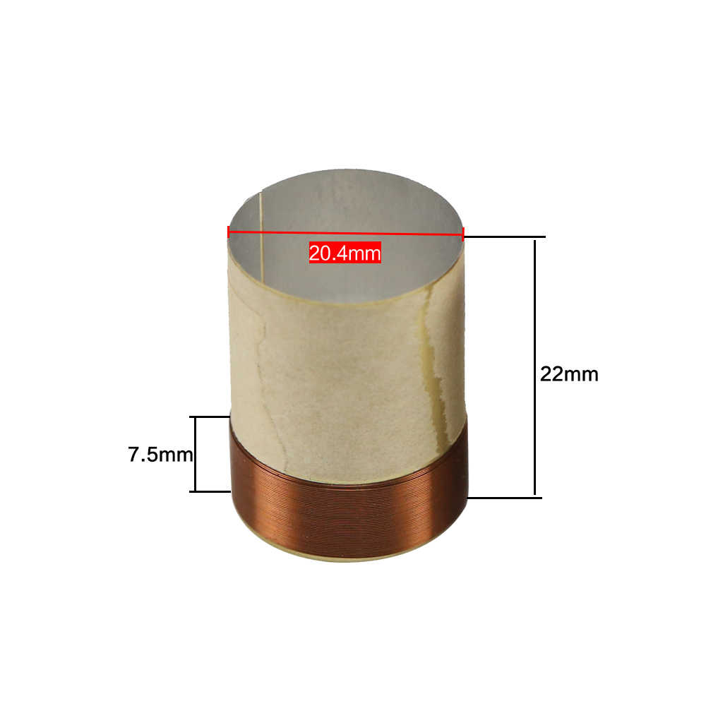 hight resolution of  ghxamp 20core bass voice coil 20 4mm ksv 8ohm round copper wire for 4 inch 5