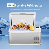 MK18 18L Car Refrigerator Freezer Cooler Car Fridge Compressor Picnic Refrigeration Freezer Low Noise AC/DC For Car Home Camping