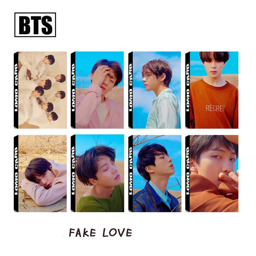 Dynamic Kpop Bts Fake Love Yourself Paper Photo Lomo Card Jimin Suga V New Fashion Cards Photocards Poster 30pcs/box Jewelry Findings & Components Beads & Jewelry Making