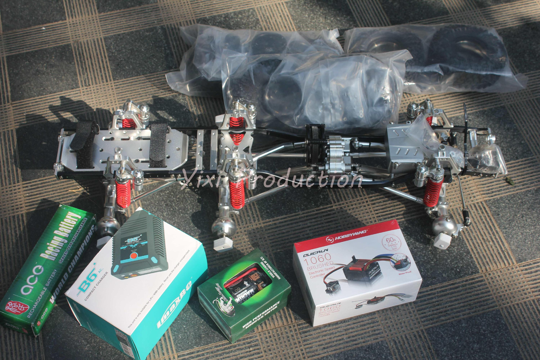 6x6 legierung crawler rc auto rahmen 6 rad CNC 6x6 truggy 1/10 rc ...