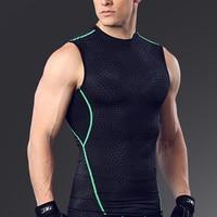 Turnhallen Fitness Tank Tops Compression Shirts Ärmel Bodybuilding Quick Dry Tanks Sportswear Tanktop Workout Kleidung