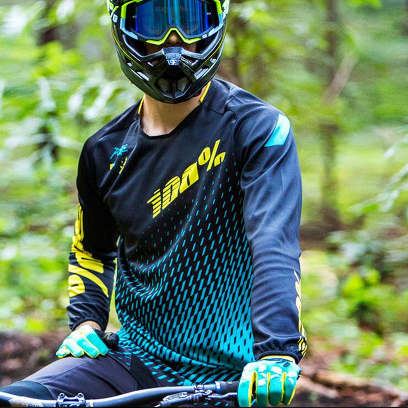 Prix pour Moto Nouveaux Maillots Tour 100 pourcen Manches Longues 2017 Dh Mx à Séchage rapide Vtt Descente Vtt Vélo Chemise Cyclocross Vitesse Je