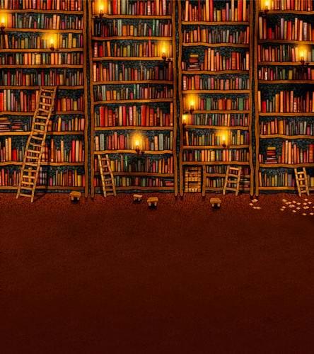 Kustom Vinyl Kain Komik Sekolah Rak Buku Perpustakaan