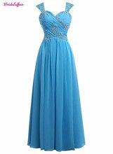 KapokBanyan Real Photo Light Blue Chiffon Sweetheart Prom Dresses 2017 Spaghetti Strap Appliques Lace Party Gown Robe de soiree
