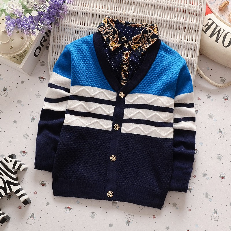 BibiCola New Boys Winter Autumn Sweater Baby Boy Clothes Casual V Neck Cardigan Sweater Children Clothing Outerwear 001 slim fit v neck plaid pattern sweater