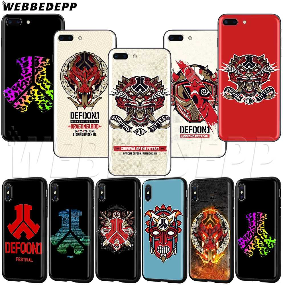 WEBBEDEPP Hardstyle defqon 1 TPU soft Case para iphone 5 11 Pro XS MAX XR X 8 7 6 6s 5 5S Plus