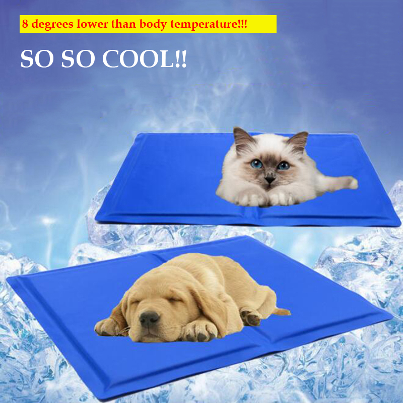 Summer Cat Dog Cool Mat Portable Pet Cooling Cushion Hot Weather Ice Supplies Pets Sunstroke Acessorios Dog Cats Ice Mats Pads