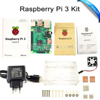 Raspberry Pi 3 Model B Kit Pi 3 Board Raspberry Pi 3 Case EU Power Plug