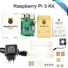 Cheap price Raspberry Pi 3 Model B Board +Raspberry Pi3 Case +Power Plug(EU &US)+Heat Sinks