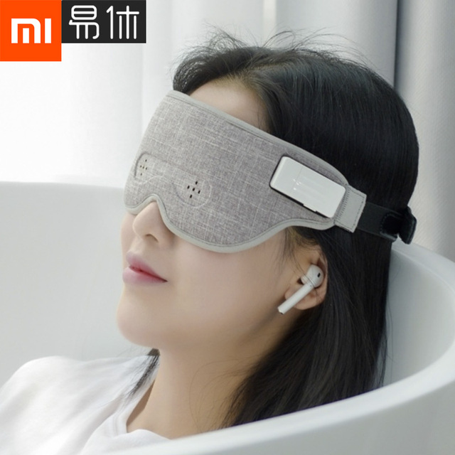 35a38c3fc6 US $50.54 9% OFF|Xiaomi Mijia Air Brain Wave Sleeply Eye Mask Work Lunch  Break Travel Nap Bluetooth Connection Smart Detection Sleep HOT-in Smart ...
